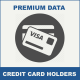 credit card holders Mobile Database